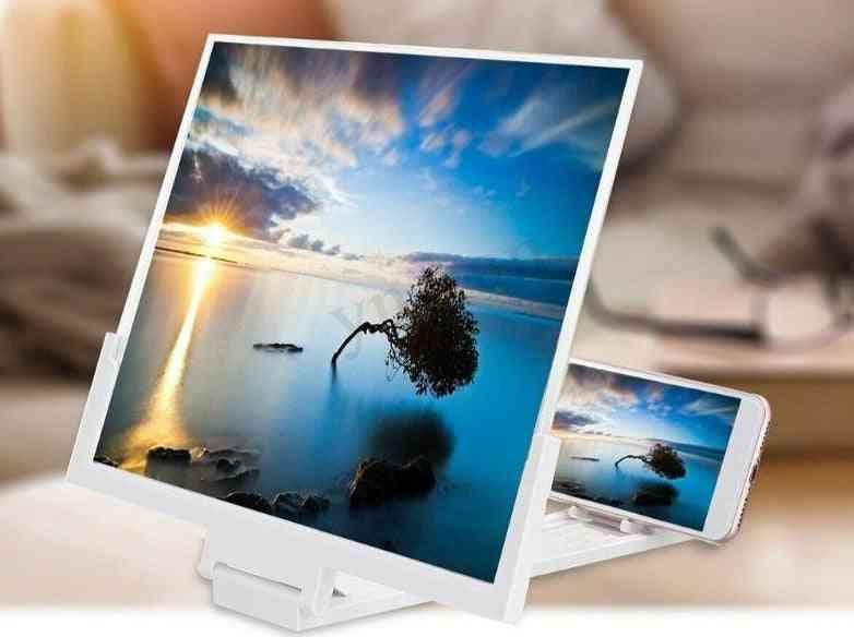 High Definition Folding Screen Amplifier Phone Magnifier Stand Holder