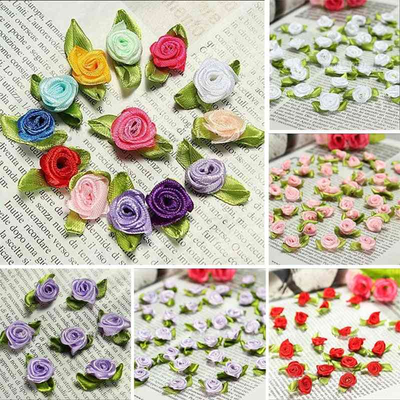 Wedding Rose Flower, Decor Bow, Appliques Handcraft Sewing, Exquisite Clothing