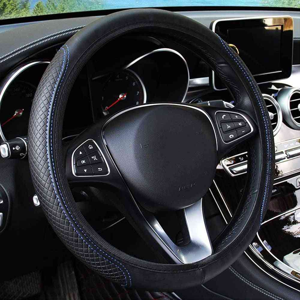 Steering Wheel Cover Skidproof, Anti-slip Embossing Leather Car-styling