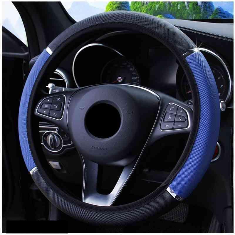 38cm Car Steering Wheel Cover / Braid On Wheel Cover Case