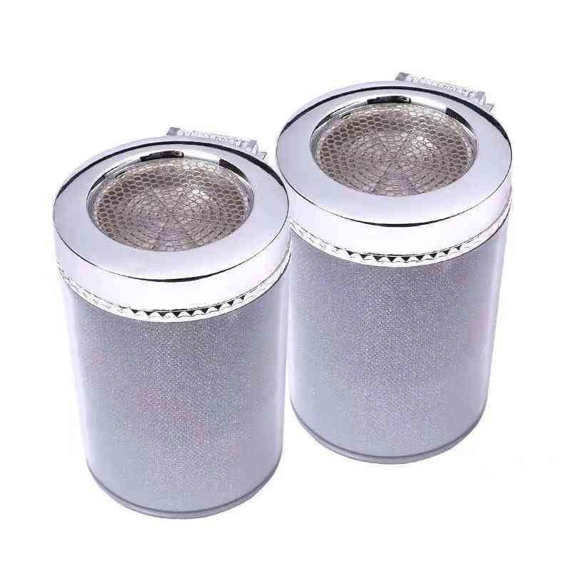 Car Ashtray With Smoke Cup Holder (silver)