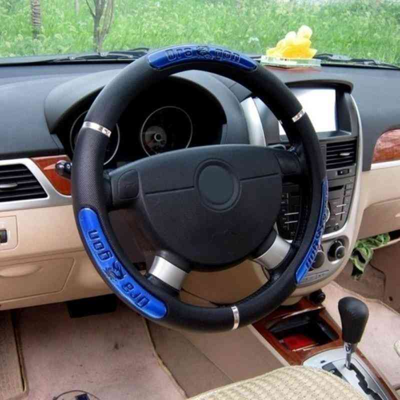 Reflective Leather Steering Wheel Covers Interior Auto Product Car Winter Accessories