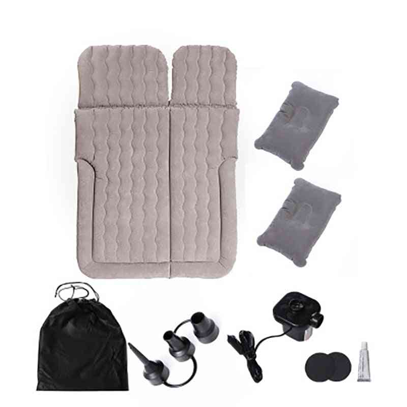 Dual Purpose Three-compartment Inflatable Car Travel Bed