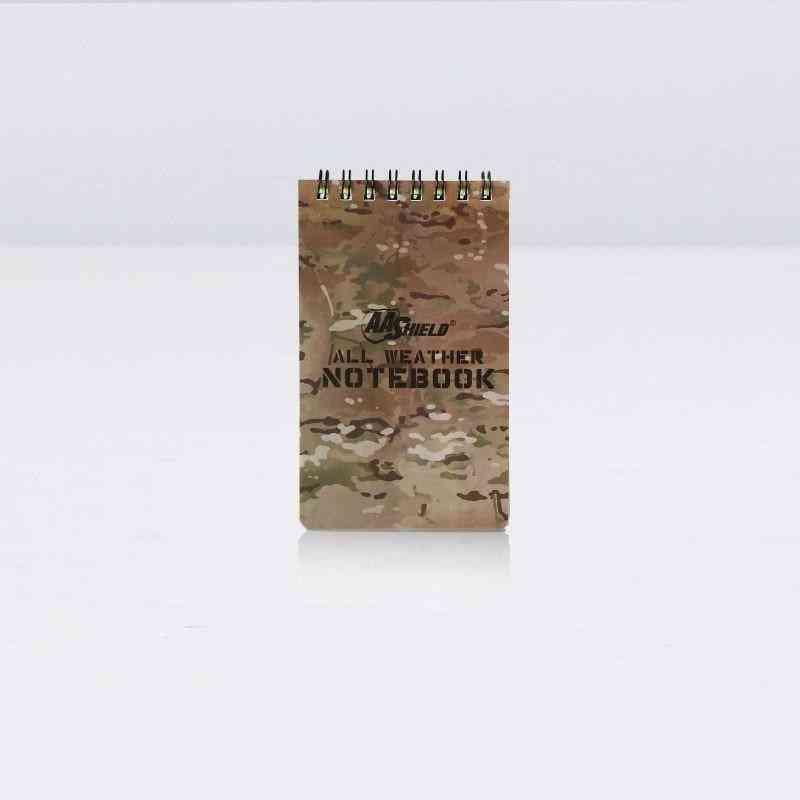 Waterproof- Aa Shield Note Camo, Outdoor Map, Notebook