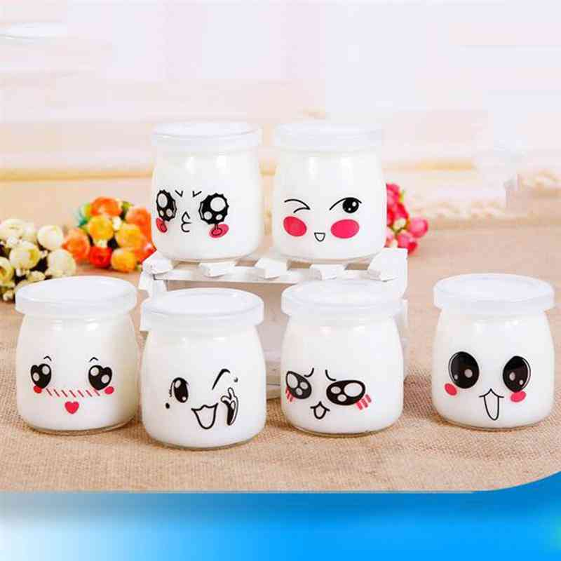 Heat-resistant Pudding Glass Bottle Yogurt Container Milk Mousse Cup