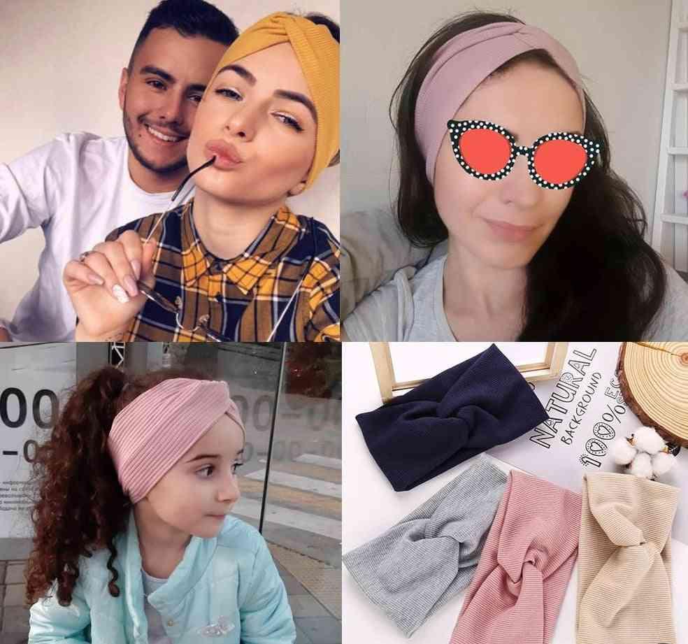 Cotton Headband/girl Baby, Elastic Knot Twist Hair Ring