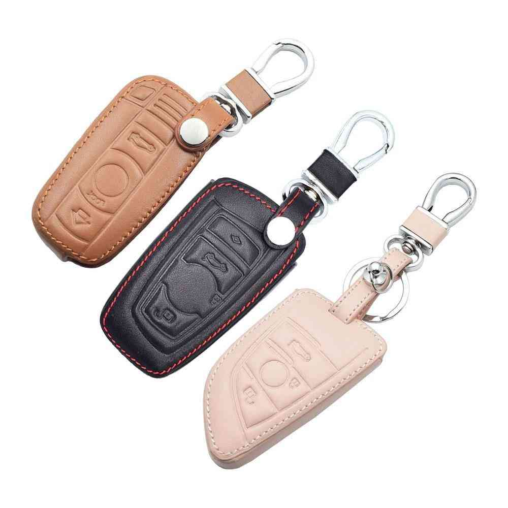 Leather Car Key Case For Bmw