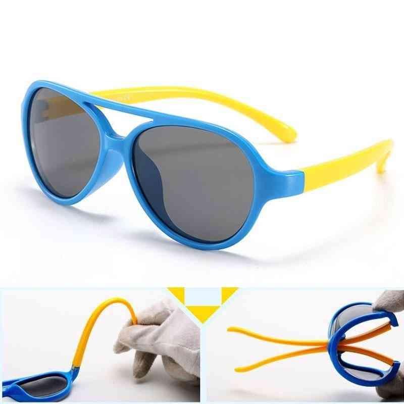Kids Polarized Sunglasses,/boys Silicone Flexible Soft Frame Eyewear