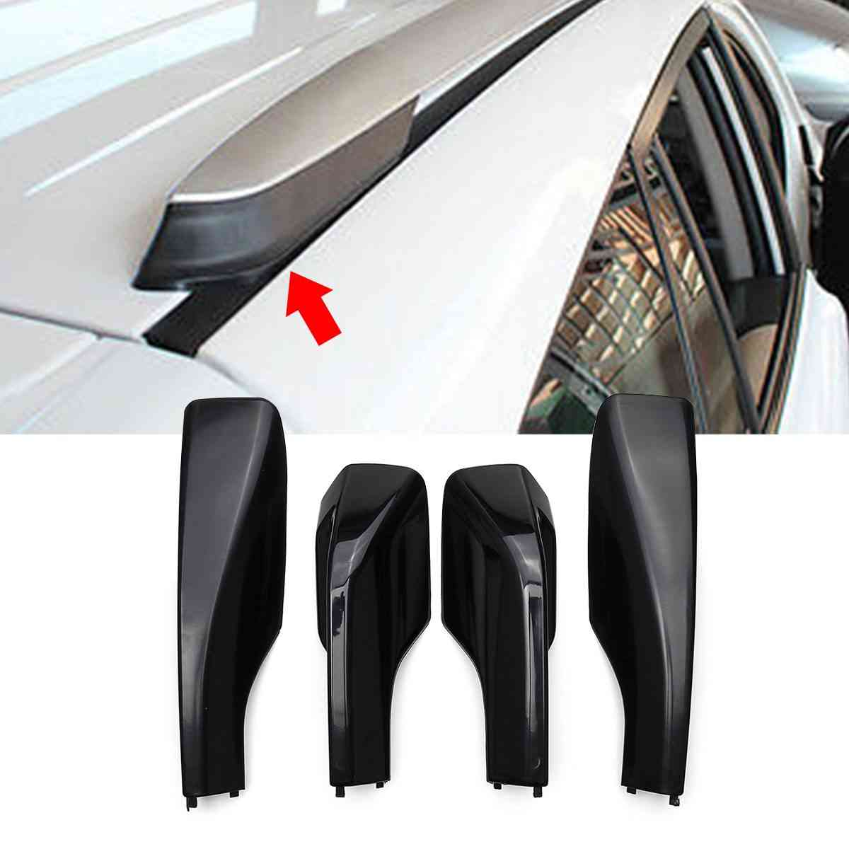 Car Styling Roof Rack Cover Bar Rail End Shell