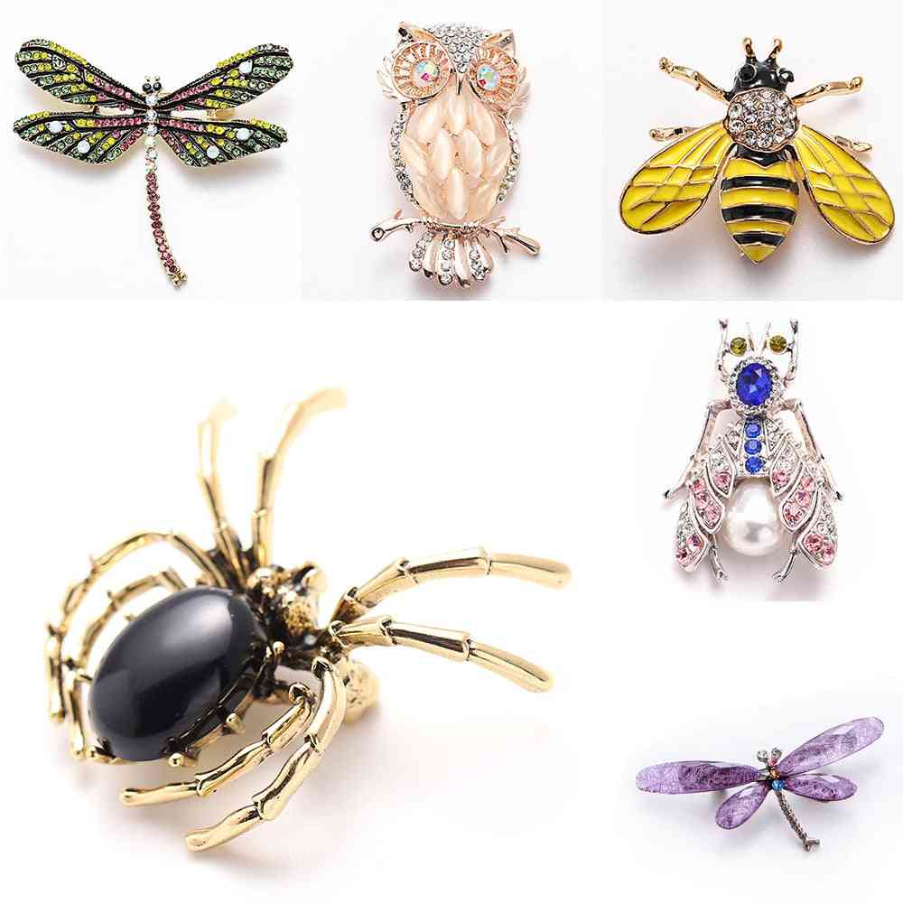 Animal Bling, Bee Spider, Brooches Dragonfly Pins