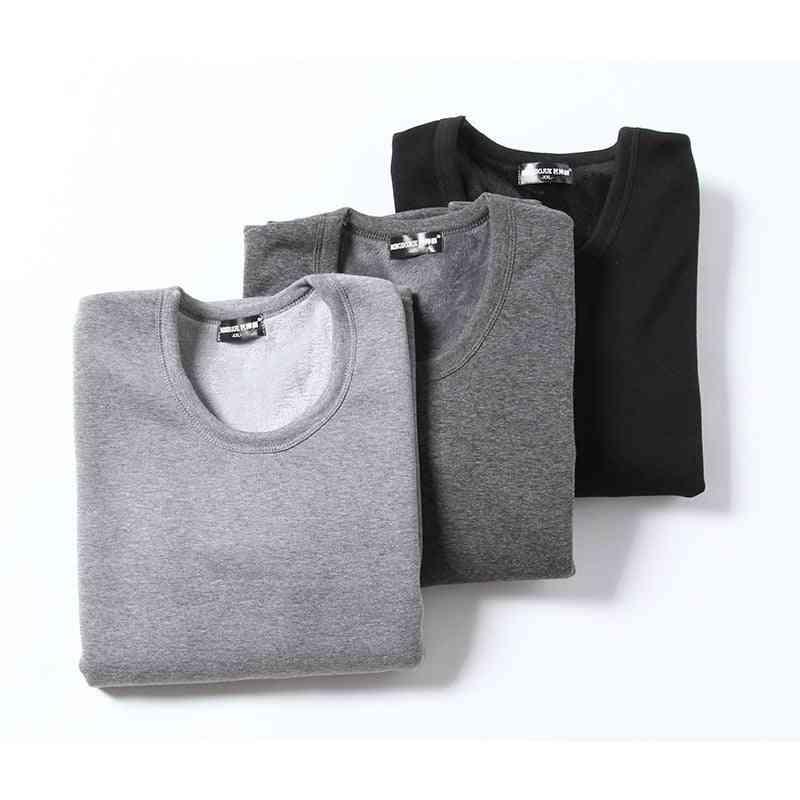 Men Thermal Underwear Set, Winter Velvet Thick Warm Tops&trousers