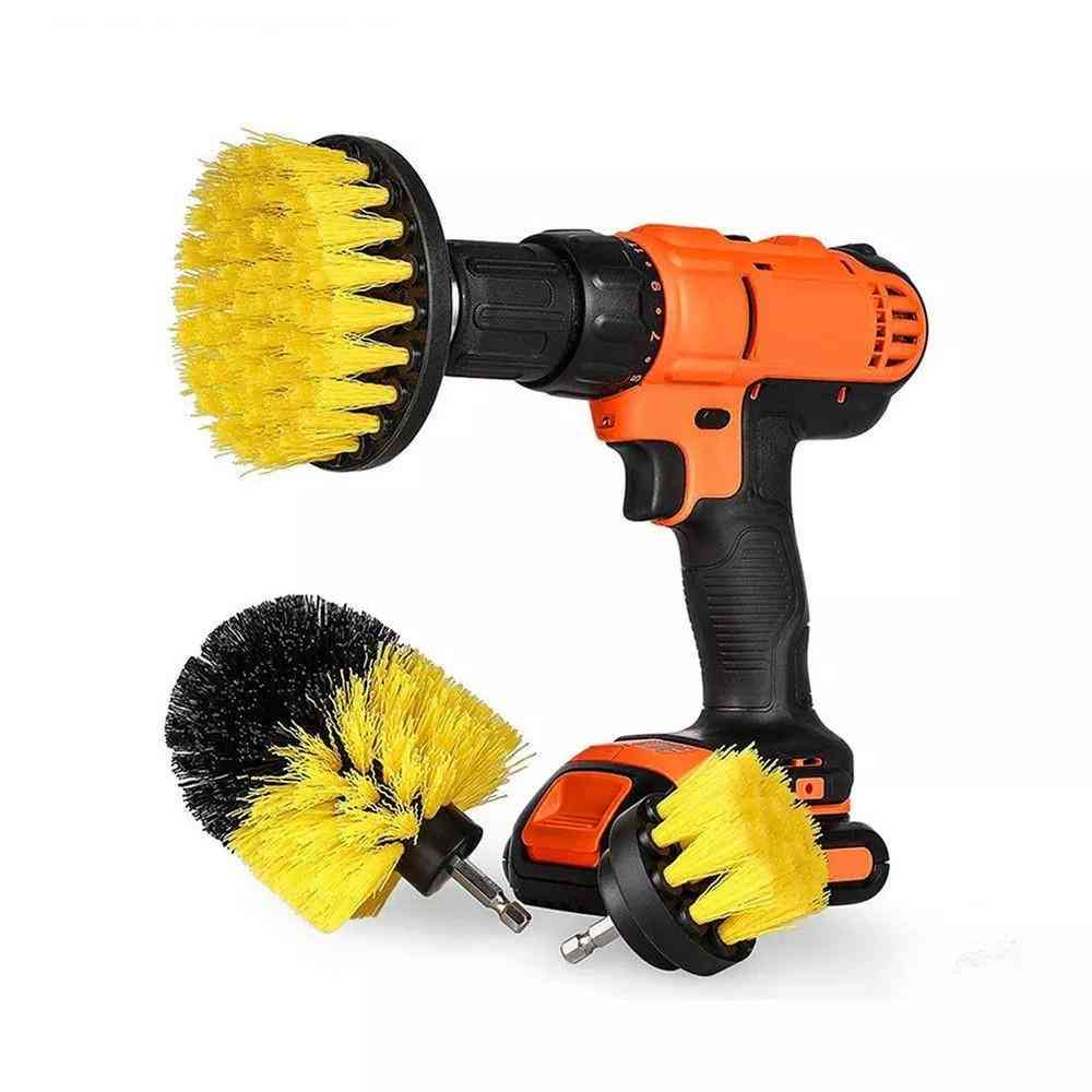 Scrubber Drill Clean Brush For Bathroom Surfaces, Tub Shower, Tile Grout Kit