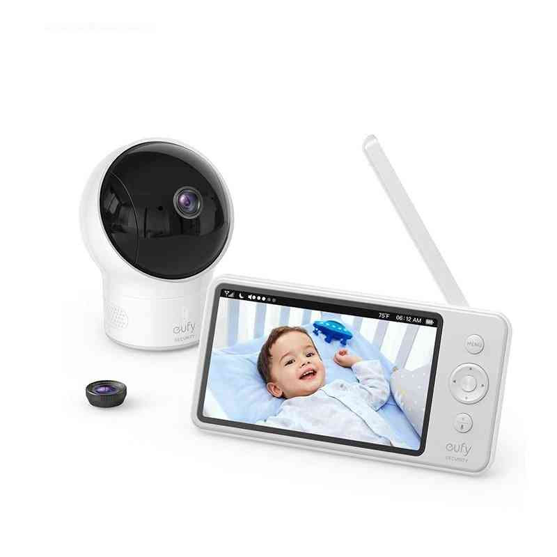 Video Baby Monitor With Camera And Audio, 720p Hd Resolution Wide-angle Lens
