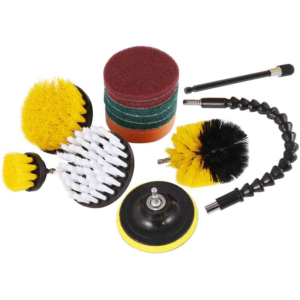 Electric Drill Brush, Scrub Pads-cleaning Kit