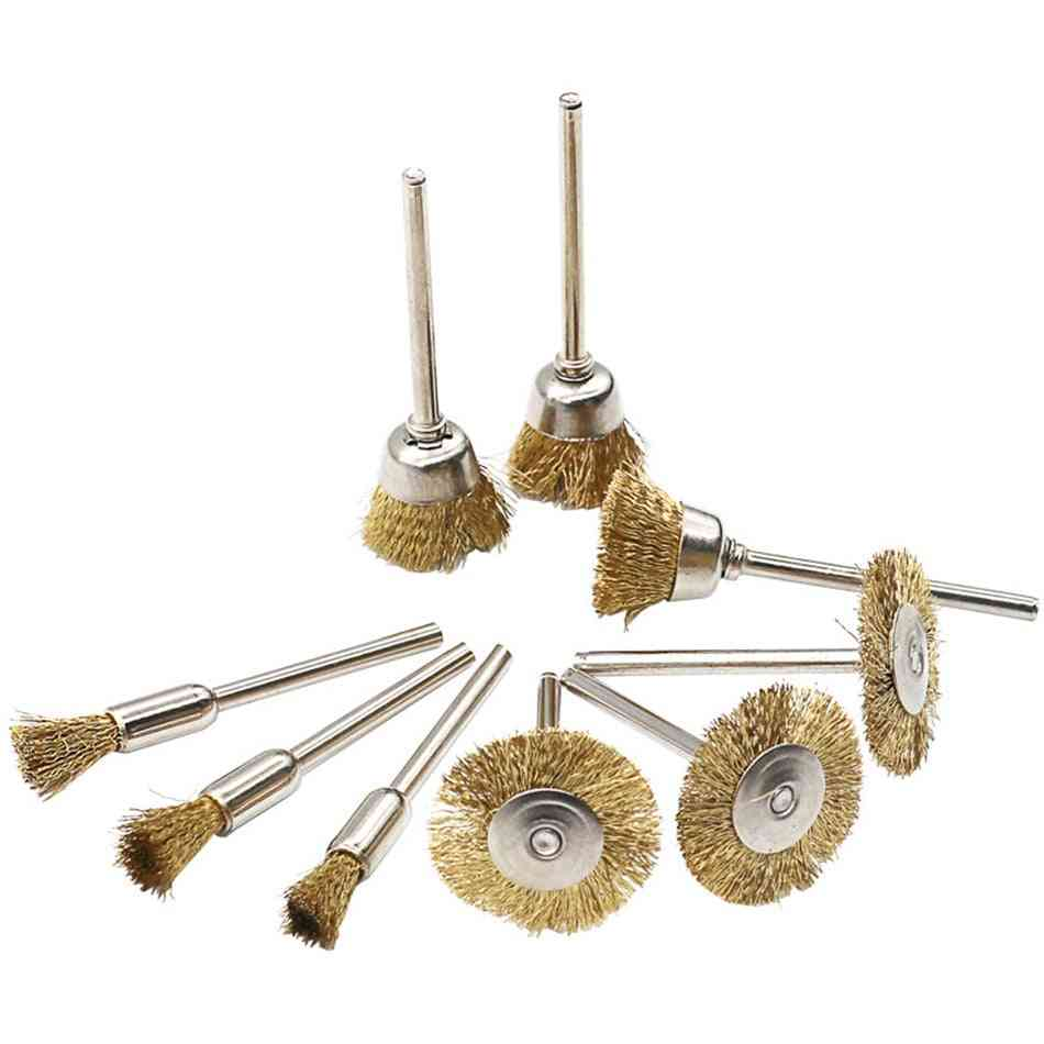 Brass Wire Brush Fits For Dremel Rotary Tool Accessory