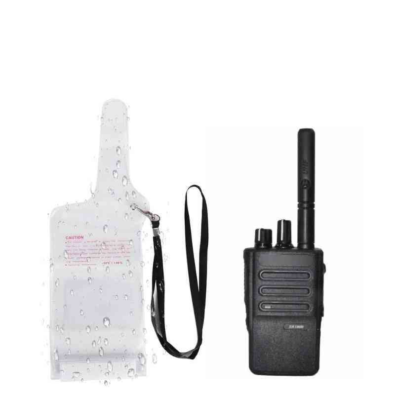 Portable Waterproof, Case Pouch Cover With Lanyard For Two-way, Radio Walkie Talkie
