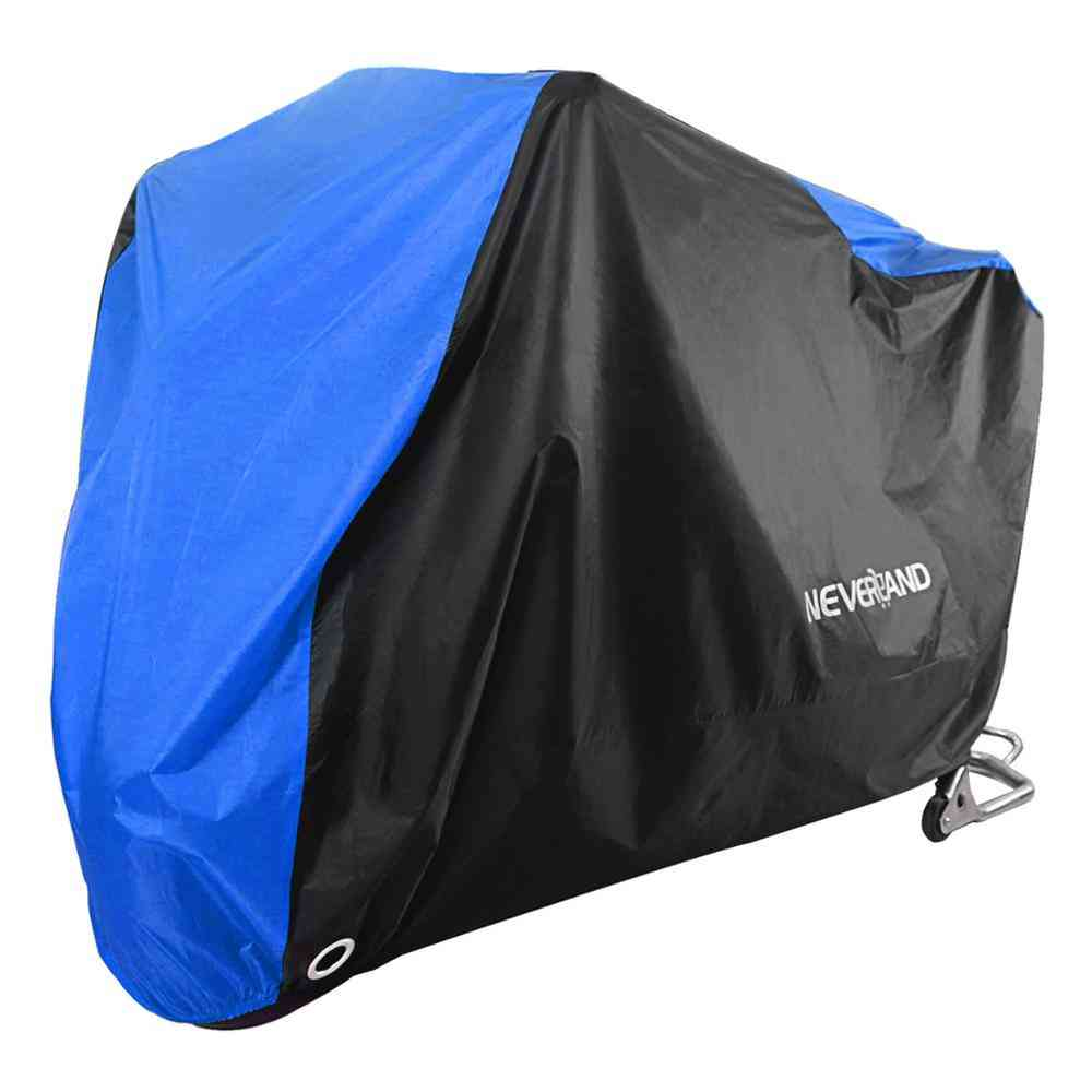 Black Blue Design Motorcycle Covers