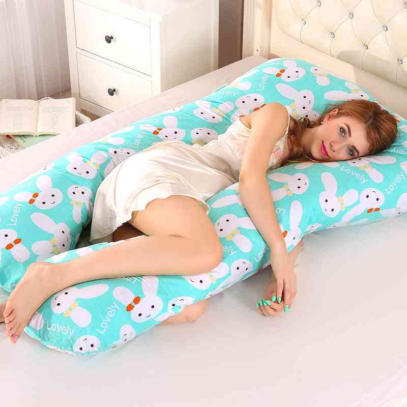 Sleeping Support Pillow For Pregnant Women Body Pw12 Cotton Rabbit Print U Shape Maternity Sleepers