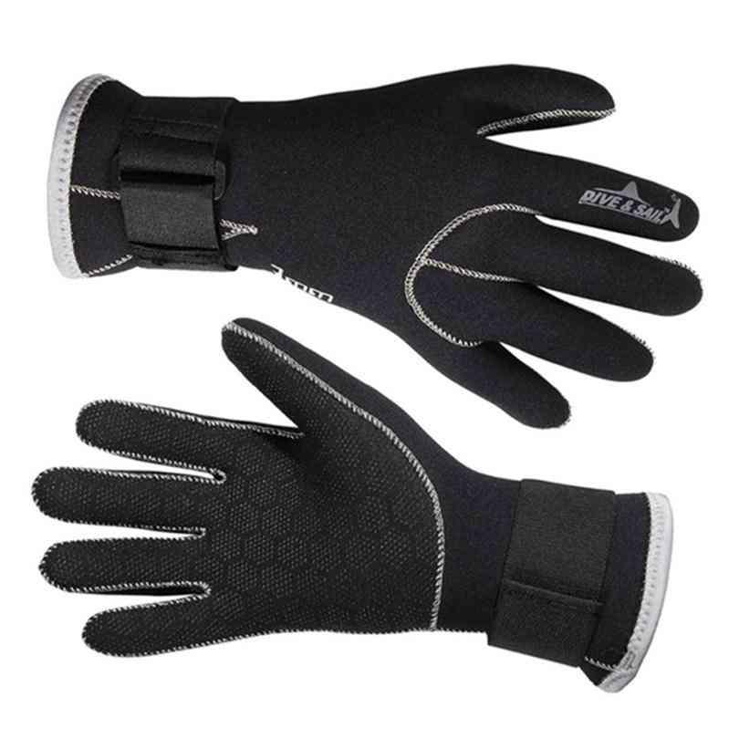 Swimming Gloves, Snorkeling Equipment Anti Scratch Warm Wetsuit