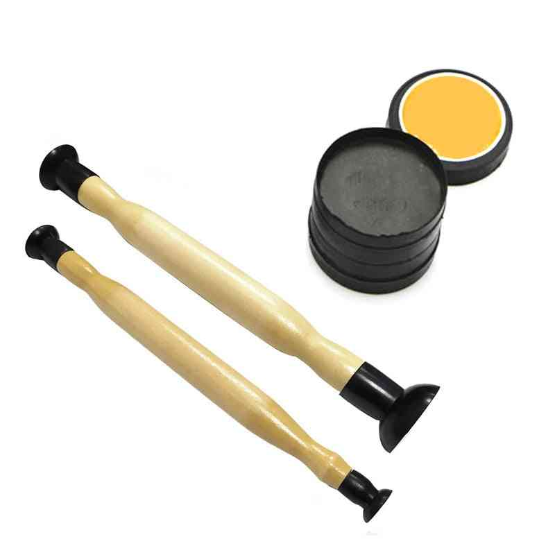 Valve Lapping Sticks Wooden Grip With Suction Cup Grinding Sand
