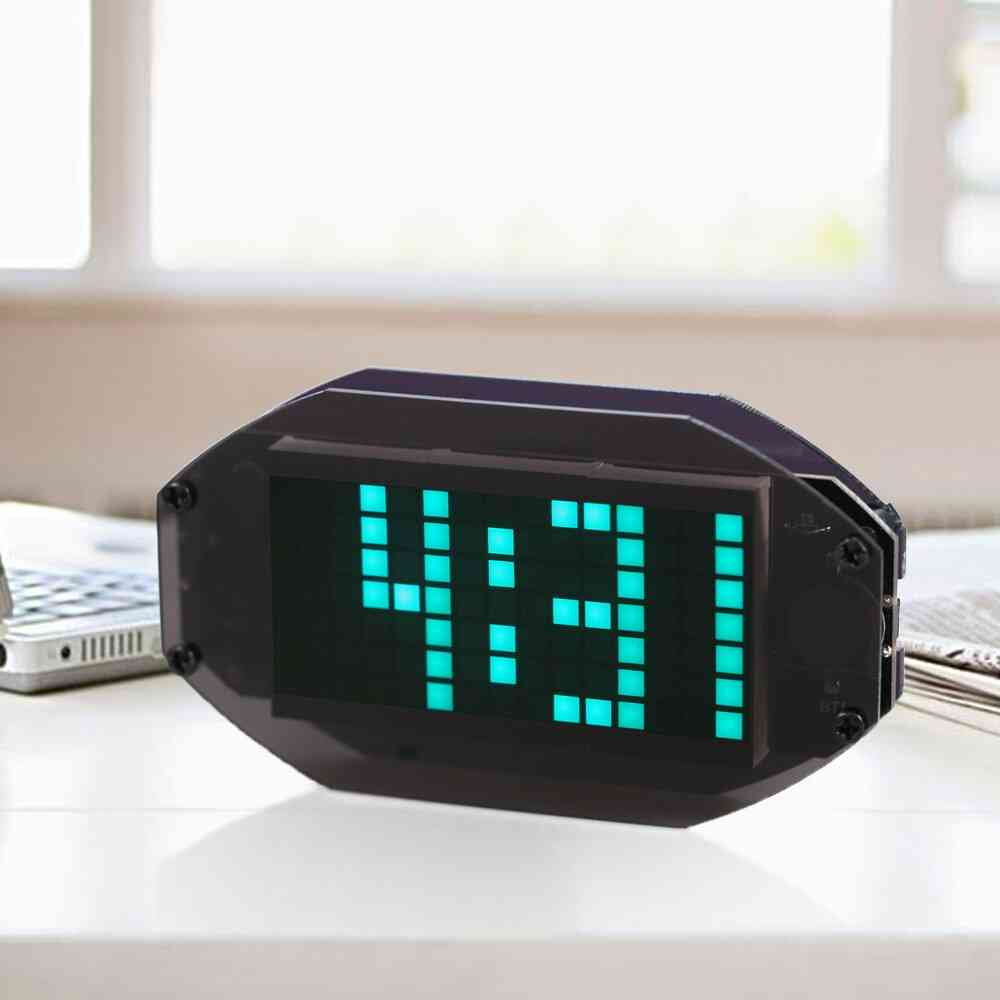 Diy Module Black Digital Led Mirror Matrix Desktop Alarm Clock