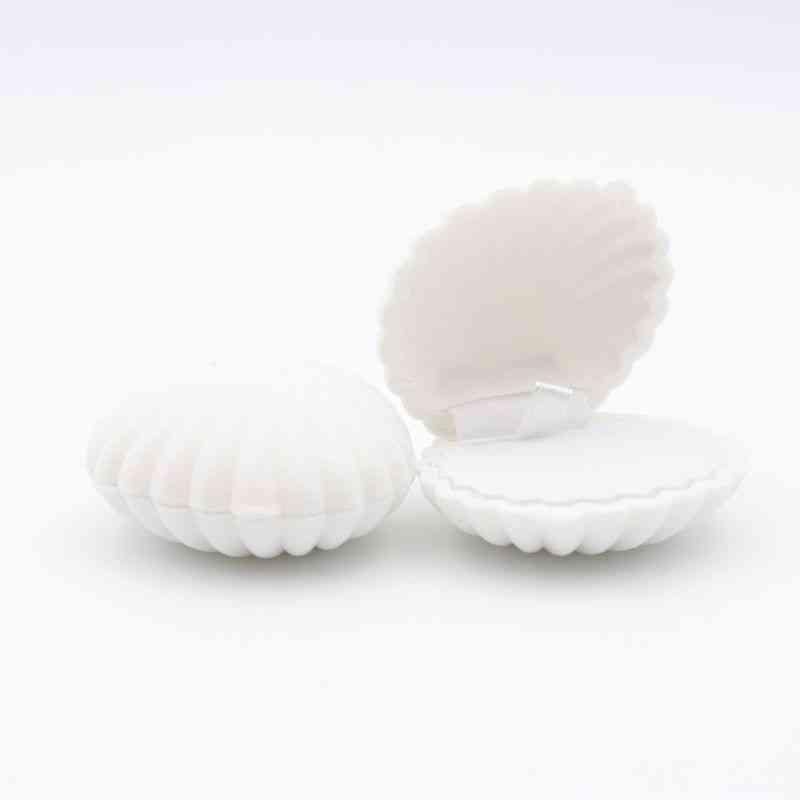 1 Piece Of Shell Shaped, Lovely Velvet Wedding/engagement Ring Box