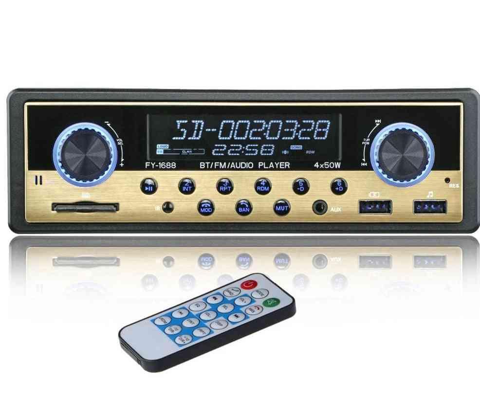 Autoradio 1 Din Car Radio Coche Bluetooth Stereo Audio Fm Receiver Usb Sd Aux Autostereo Mp3