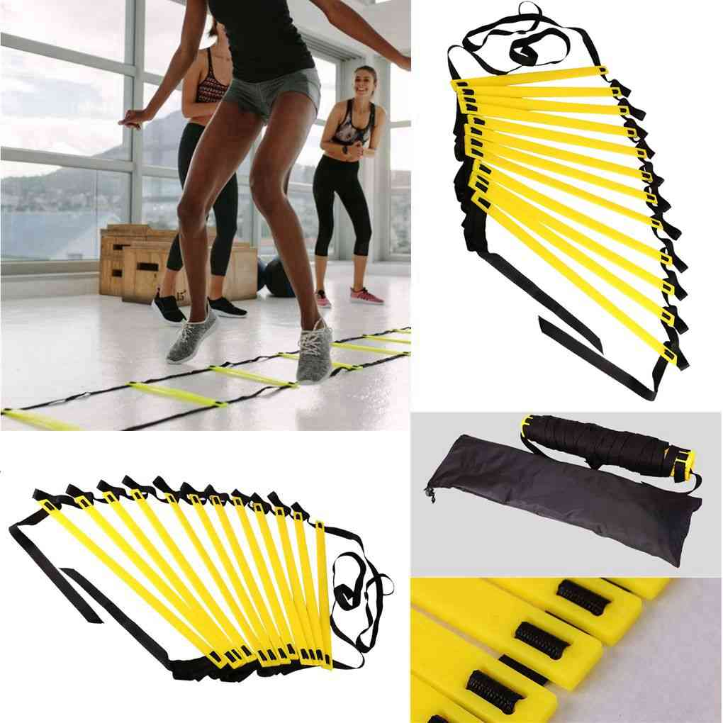 Agility Speed Ladder Stairs Nylon Straps Training Ladders Agile Staircase