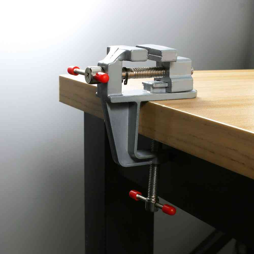 Portable Table Vise Metal Clamp, Locksmith Clip Parts Screw Bench