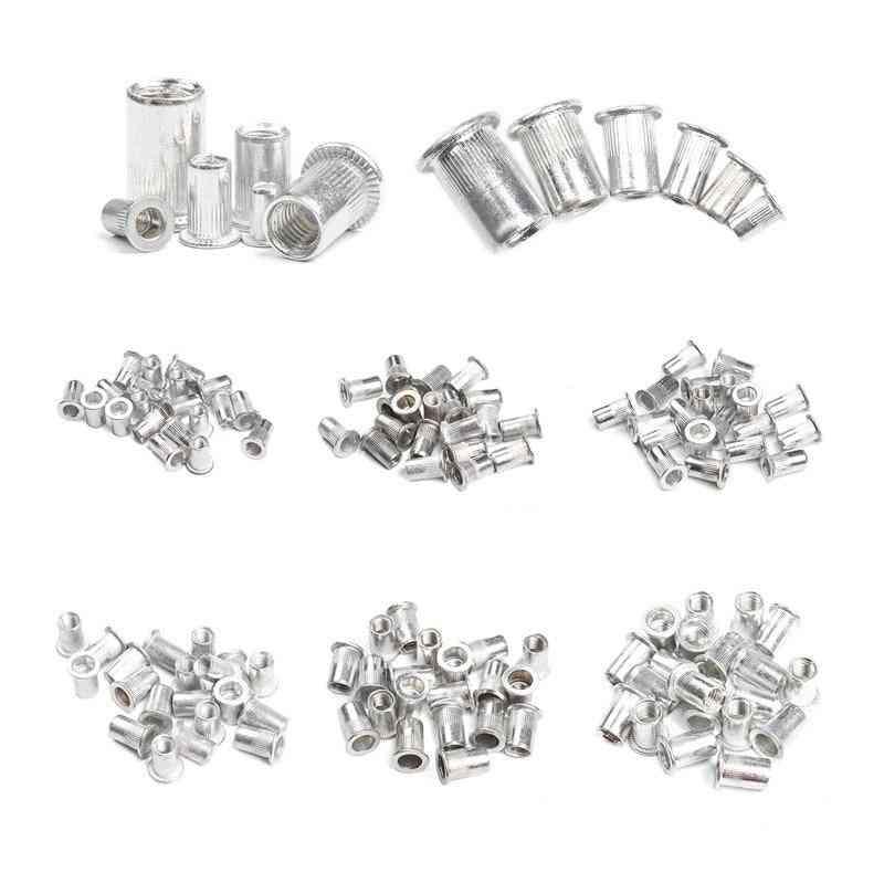 Aluminum Alloy Rivet Flat Head Rivet Nuts Set Nuts Insert Riveting