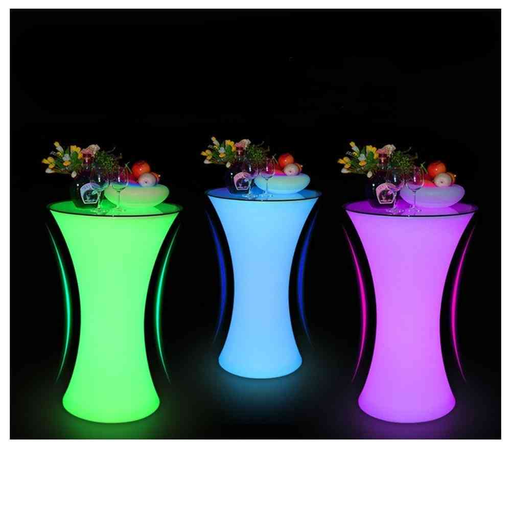 Rechargeable Lighted Up Bar Table  (white)