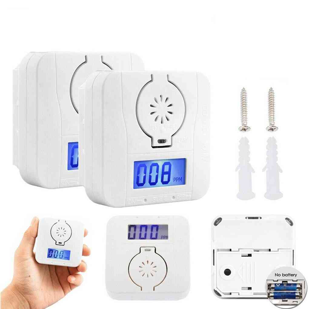 Carbon Monoxide-smoke, Alarm Poisoning, Gas Detector, Warning Sensor Led Display