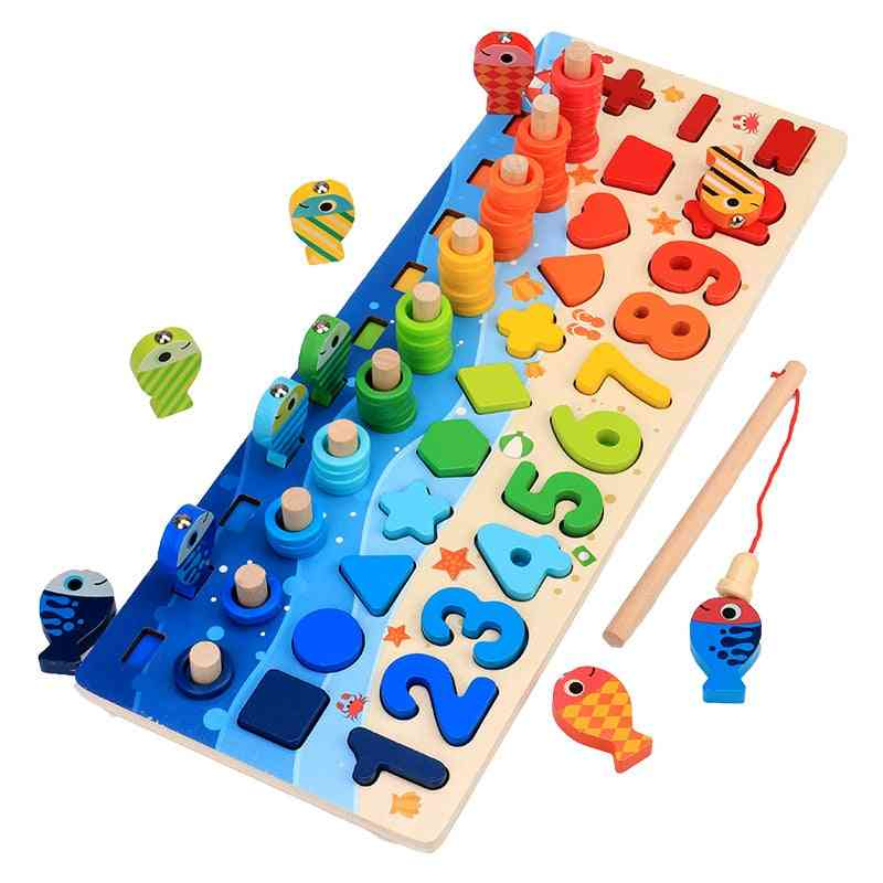 Kids Educational Wooden Fishing Puzzle Board (full Set)
