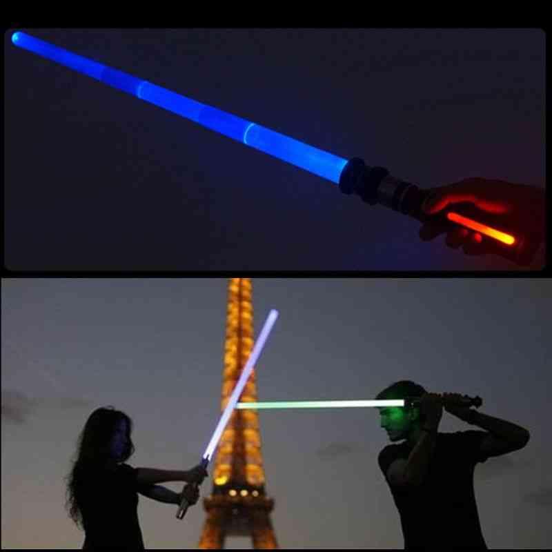 Telescopic Lightsaber Flashing Sword Cosplay Luminous Music Star Laser Toy