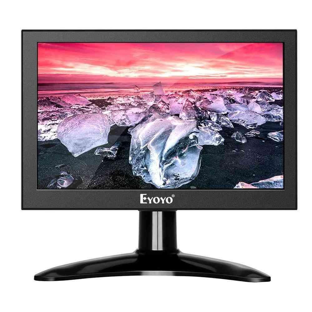 Mini Ips, Lcd Monitor Pc, Computer, Hdmi Security, Screen Display With Vga, Av, Bnc