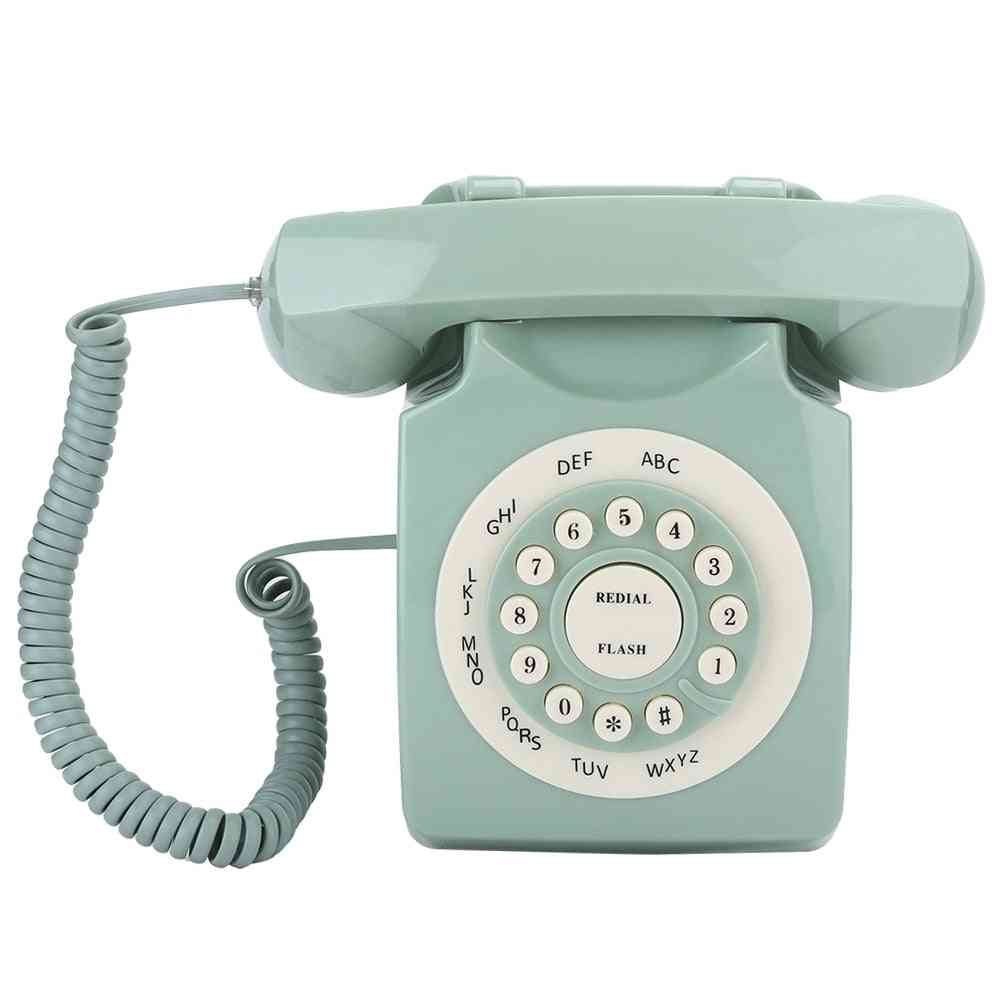 Antique European Vintage Landline Telephone, High Definition Call Large Clear Button
