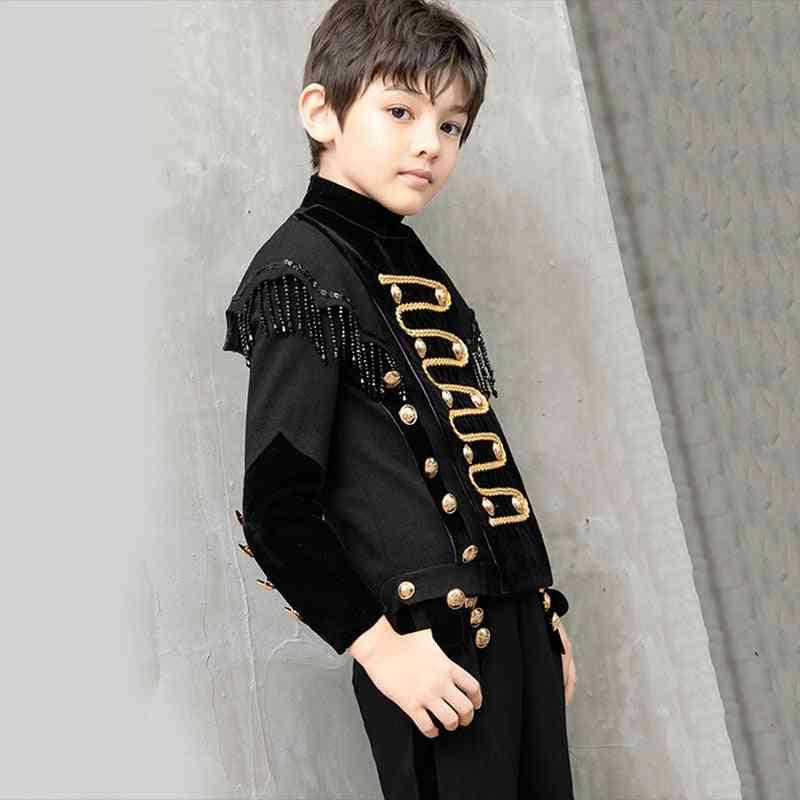 Black Beaded Tassel Terno Infantil Costume