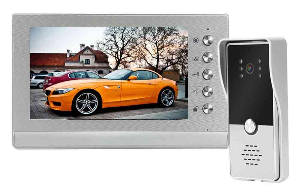 Video Door Phone Intercom Doorbell Camera Wired System Unlock Support Lock