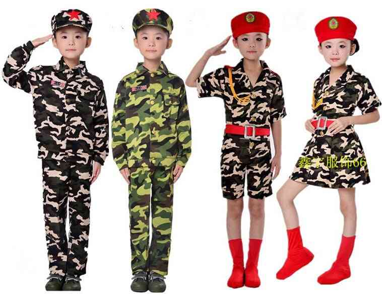 Camouflage Costumes Primary Secondary School Students Uniforms Dance Clothes Military