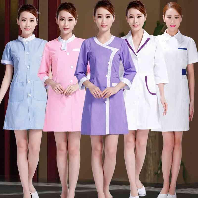 Designs Beautician Work Clothes Female Spring Summer Uniform Pharmacy Work Drugstore Dress