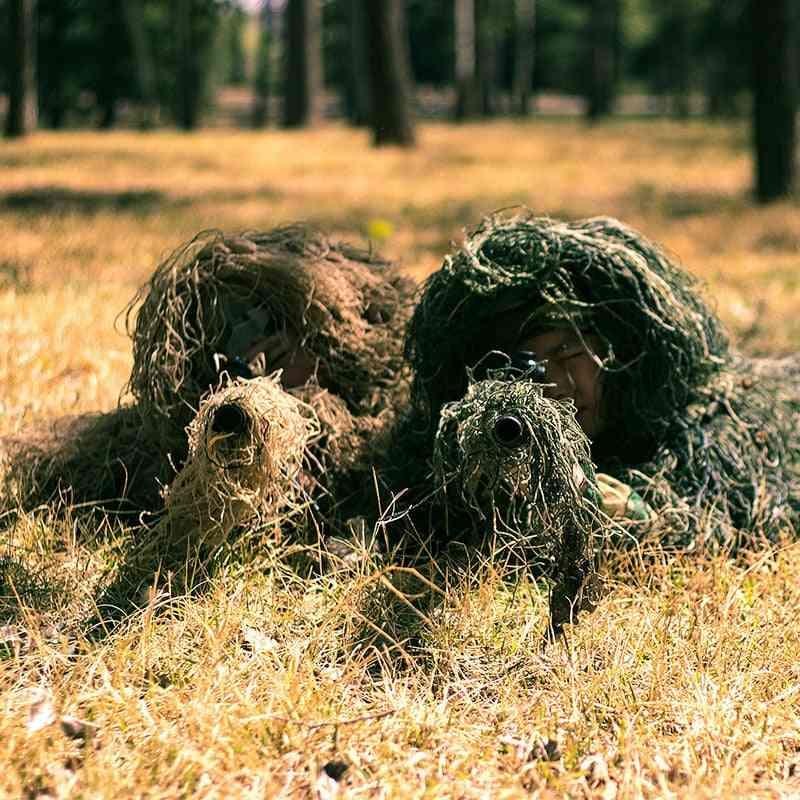Unisex Child Hunting Ghillie Suit Camo Woodland Camouflage Forest 3d Tactical Kid Desert Snow Uniform