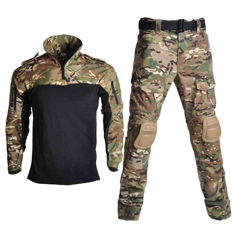 Children Military Combat Tactical Costumes Camouflage Short Long Army Suit For Student