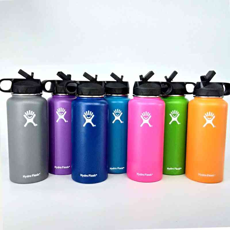 Stainless Steel- Wide Mouth Flask, Hydro Thermos, Double-walled Vacuum Thermal Water Bottle