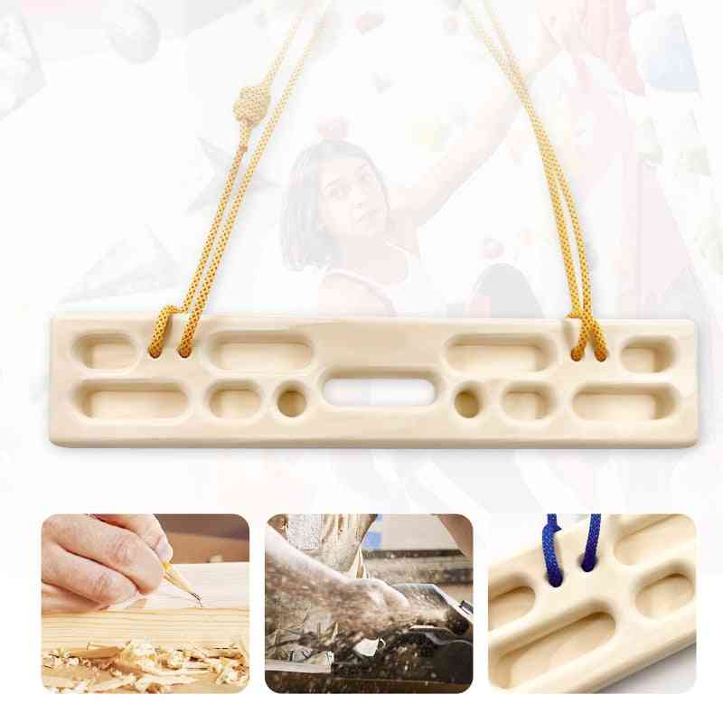 Fingerboard Indoor Finger Strength Training 500mm Length Beech Woodbox And Rock Climbing Hangboard