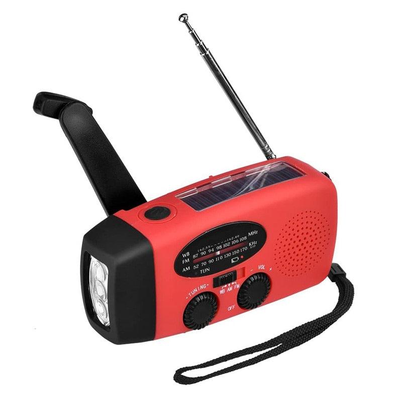 Crank Dynamo Solar Power, Emergency Radio, Global Receiver