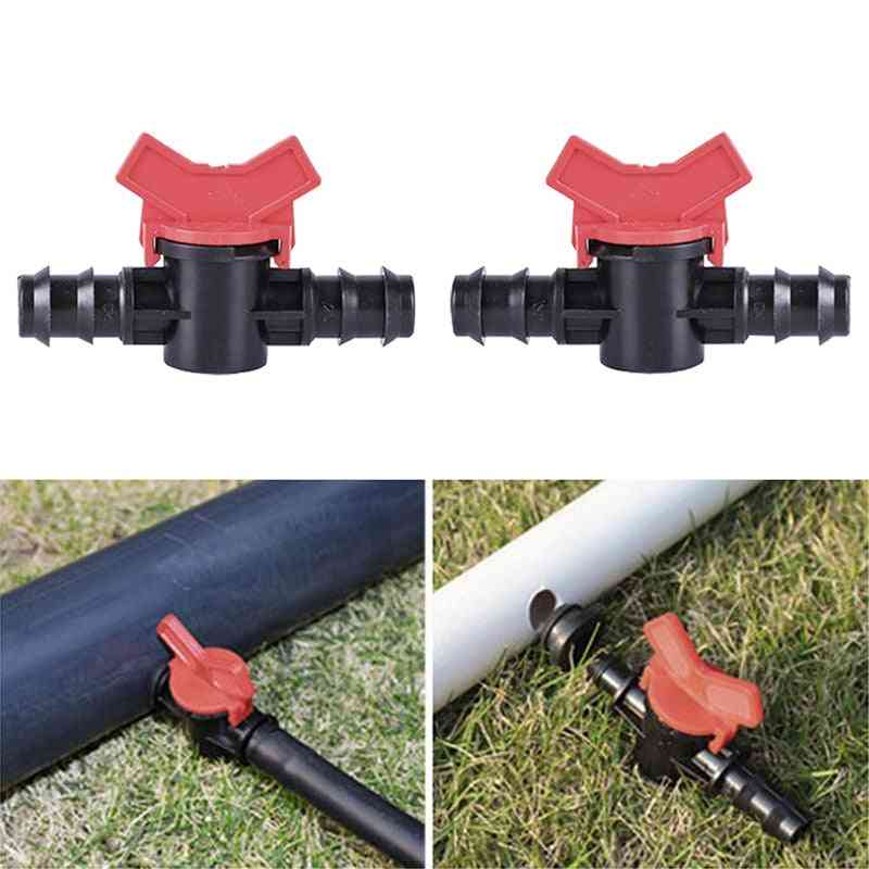 Pe Water Pipe Joint Miniature Ball Valve, Irrigation Drip Hose Nut Lock Switch