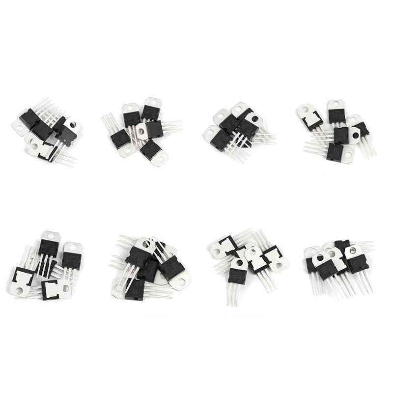Voltage Regulators Ic To-220 L7805/7806/7809/7812/7815/7905/7909 Lm317t  Mosfet Transistor  Assortment Kit