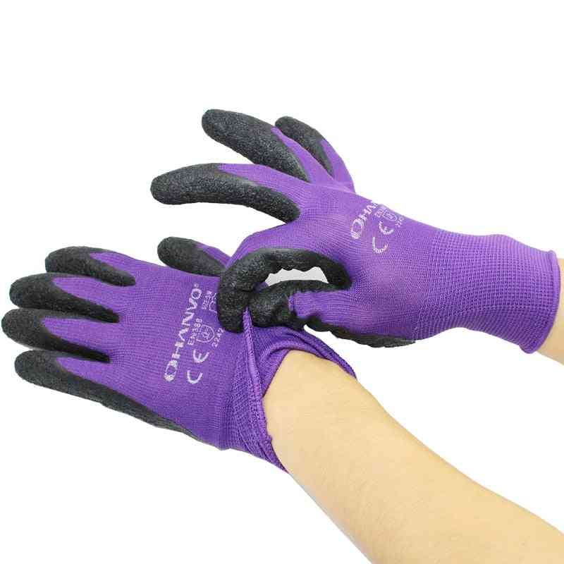 Multipurpose Work Protective Gloves, 13 - Pin Polyester Material, Wear Resistant