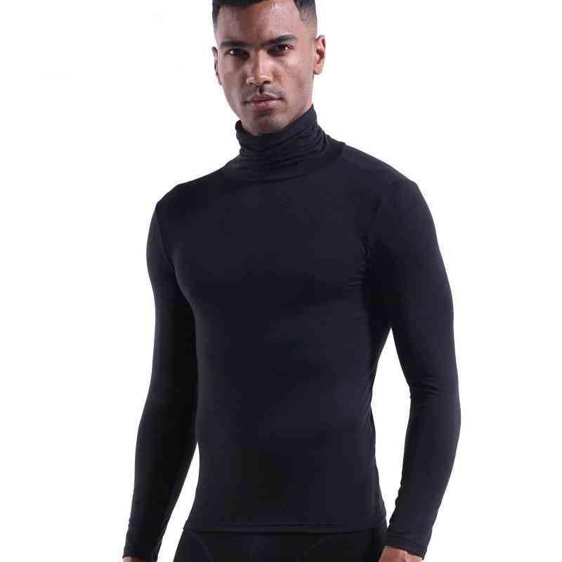 Elastic Cotton Thermal Underwear Winter Turtleneck Top