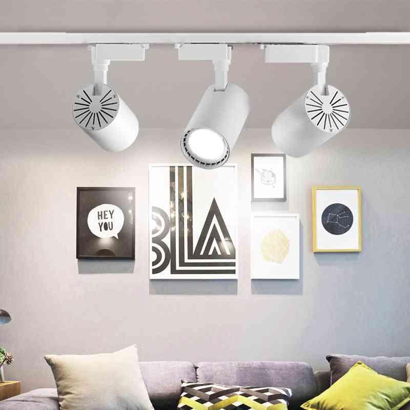 6pcs Led Track Lamps Spotlights For Living Room, Clothes, Shop